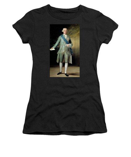 'jose Monino, Count Of Floridablanca', 1783, Spanish School, Oil ... Women's T-Shirt