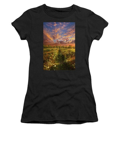 Women's T-Shirt featuring the photograph Just Follow Your Feet by Phil Koch