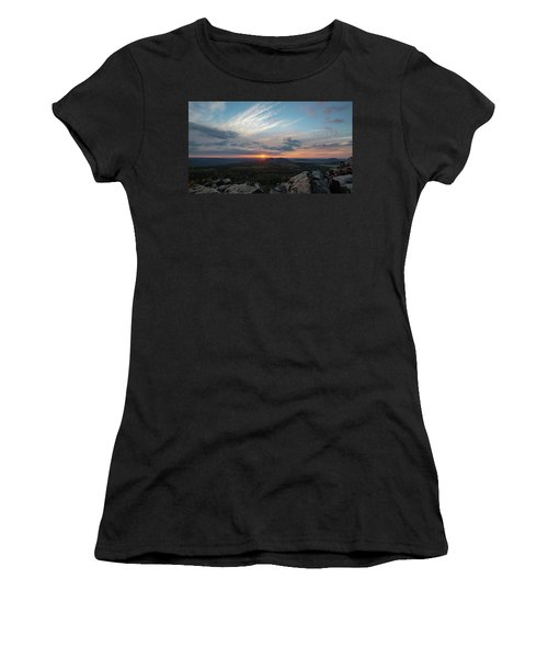 Women's T-Shirt featuring the photograph Just Before Sundown by Andreas Levi