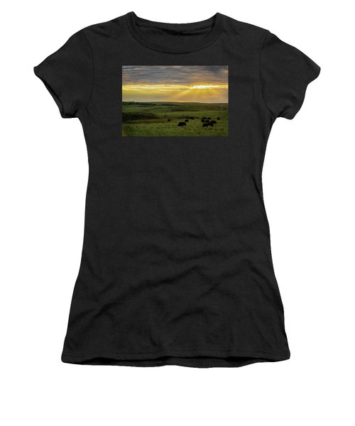 Kansas Flint Hills Sunset Women's T-Shirt