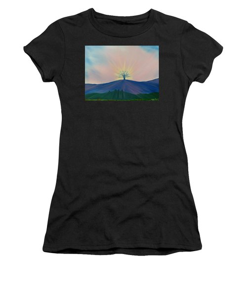 Women's T-Shirt featuring the painting Komorebi by Kevin Daly