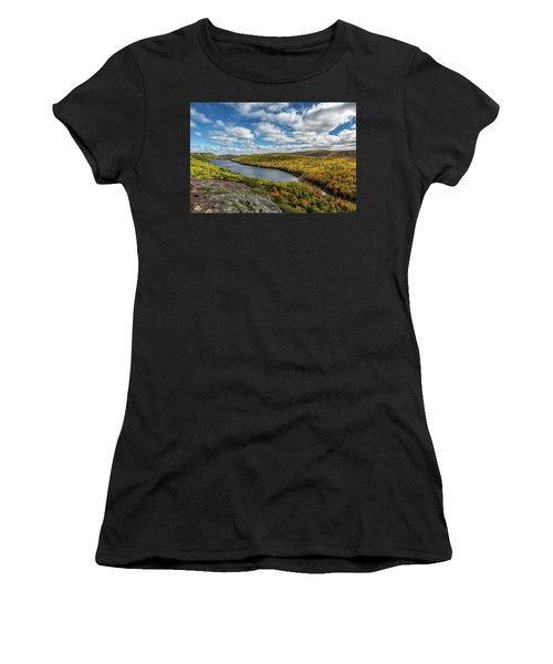 Women's T-Shirt featuring the photograph Lake Of The Clouds 2 by Heather Kenward