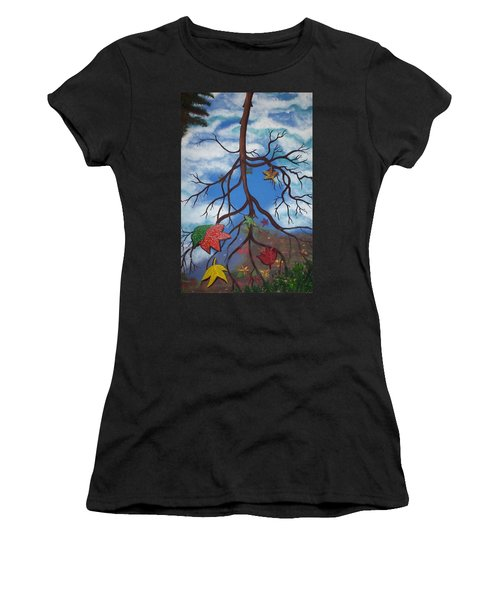 Lake Reflections - Autumn Women's T-Shirt (Athletic Fit)