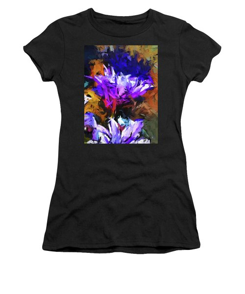 Lavender Flower And The Cobalt Blue Reflection Women's T-Shirt (Athletic Fit)