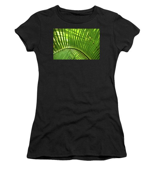 Women's T-Shirt (Athletic Fit) featuring the photograph Leaf Abstraction I by Leda Robertson