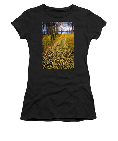 Leaves On Trail Women's T-Shirt