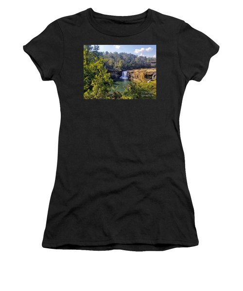 Women's T-Shirt (Athletic Fit) featuring the photograph Little River Canyon Falls Alabama by Rachel Hannah