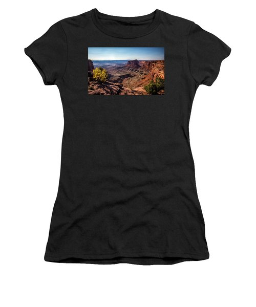 Women's T-Shirt (Athletic Fit) featuring the photograph Lonely Butte by David Morefield