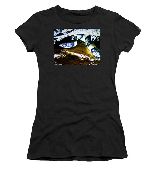 Women's T-Shirt (Athletic Fit) featuring the photograph Longnosed Snake In The Desert by Judy Kennedy