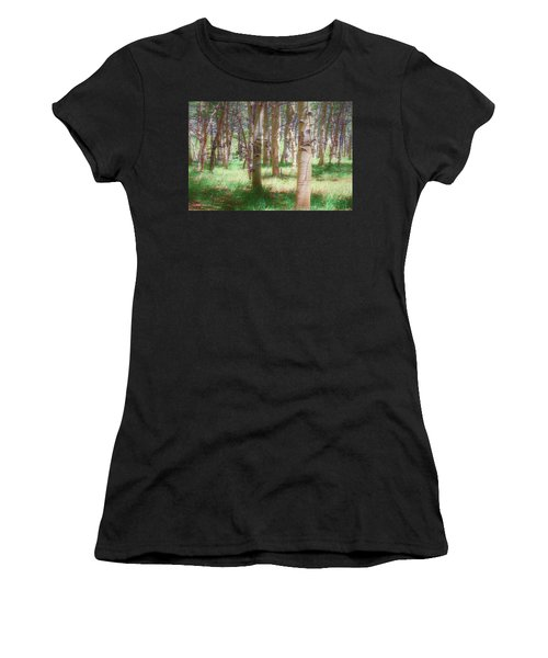 Women's T-Shirt (Athletic Fit) featuring the photograph Lost In The Woods - Kenosha Pass, Colorado by Mike Braun