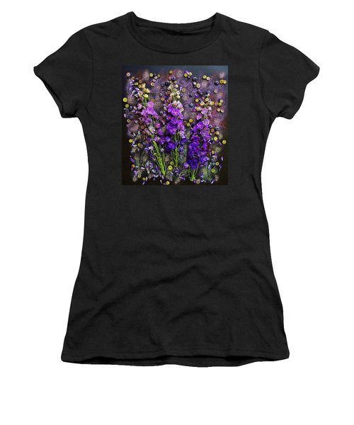Lupine And Blueberries  Women's T-Shirt