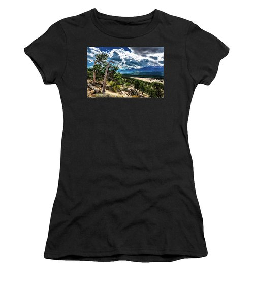 Women's T-Shirt (Athletic Fit) featuring the photograph Majestic Clouds by James L Bartlett