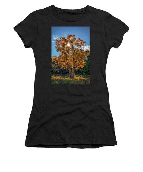 Women's T-Shirt (Athletic Fit) featuring the photograph Maple Tree In Full Autumn Glory by Rick Berk