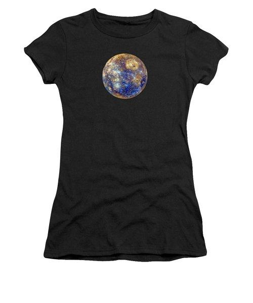 Mercury In False Color - Enhanced Women's T-Shirt
