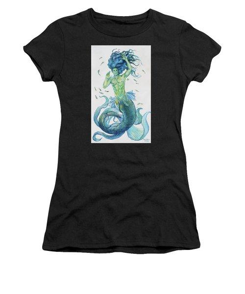 Merman Clyde Women's T-Shirt (Athletic Fit)
