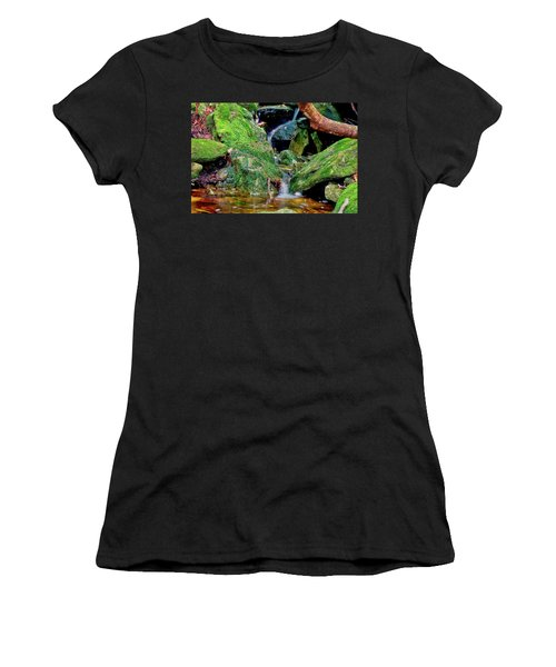 Women's T-Shirt (Athletic Fit) featuring the photograph Mountain Brook by Meta Gatschenberger