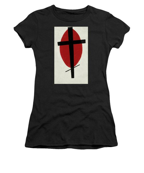 Mystic Suprematism - Black Cross On Red Oval, 1920-1922 Women's T-Shirt