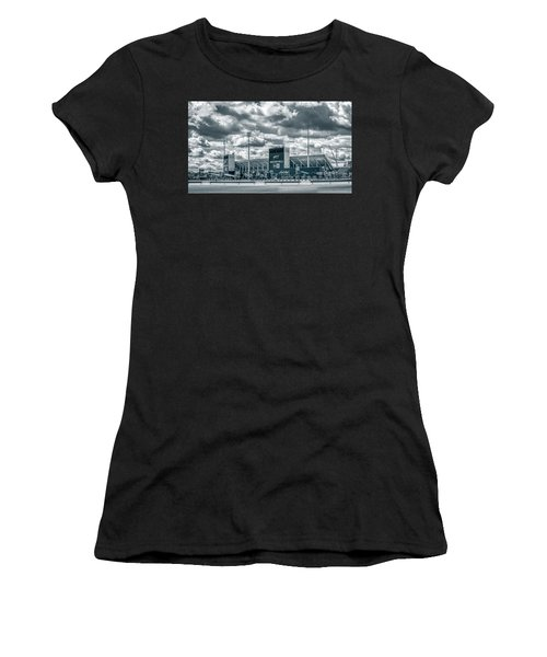 Women's T-Shirt (Athletic Fit) featuring the photograph New Era Stadium by Guy Whiteley