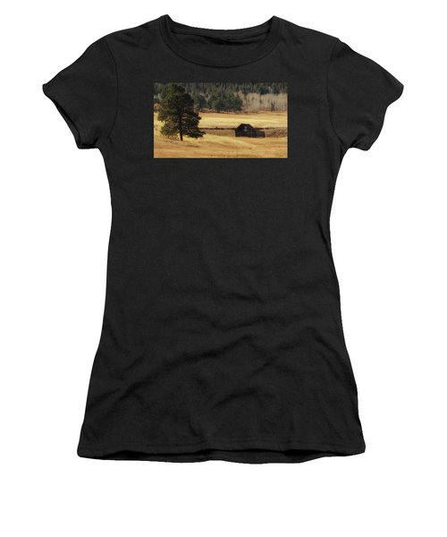 Women's T-Shirt featuring the photograph Noble Meadow Barn by Lukas Miller