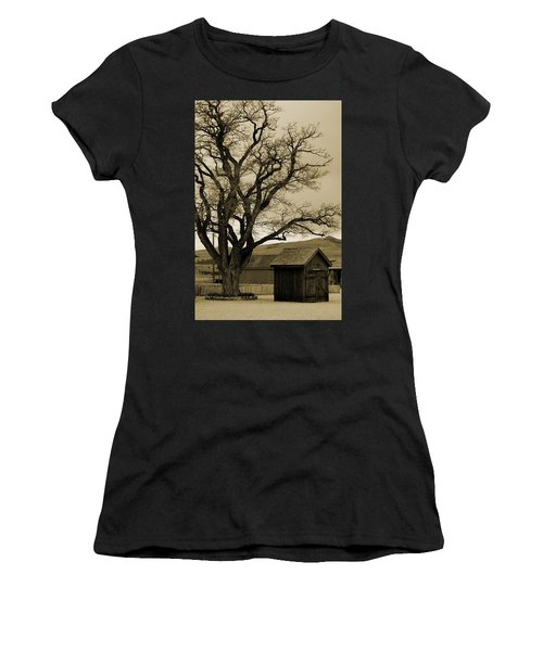 Old Shanty In Sepia Women's T-Shirt