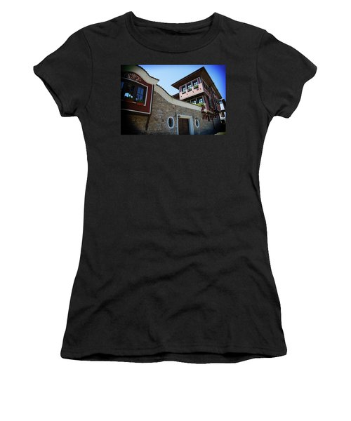 Women's T-Shirt featuring the photograph Old Town Plovdiv by Milena Ilieva