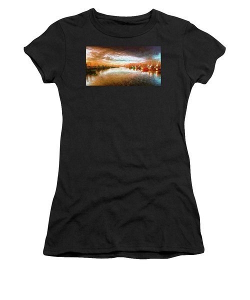 Outer Banks Fishing Boats At Oregon Inlet Ap Women's T-Shirt