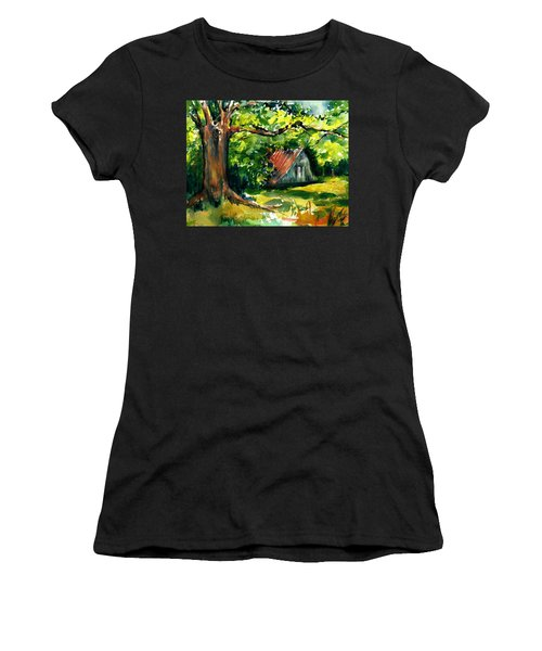 Ozarks Barn In Boxley Valley - Late Summer Women's T-Shirt