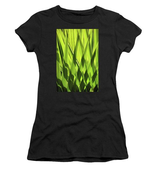 Women's T-Shirt (Athletic Fit) featuring the photograph Palm Portrait IIi by Leda Robertson