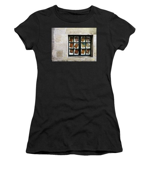 Women's T-Shirt featuring the photograph Parchment Panes by Rick Locke