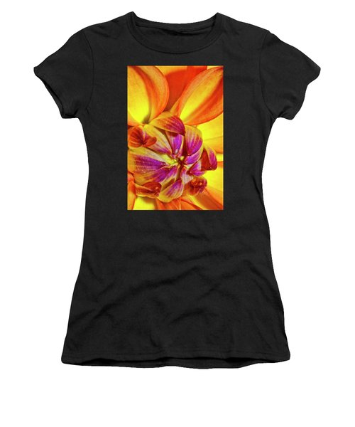 Peach Purple Flower Women's T-Shirt