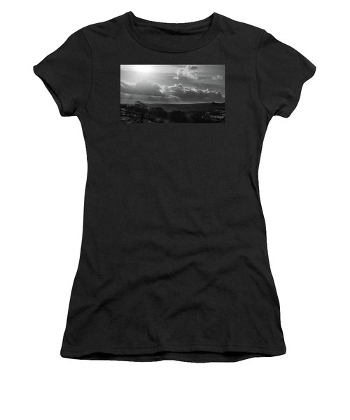 Peak District From Black Rocks In Monochrome Women's T-Shirt