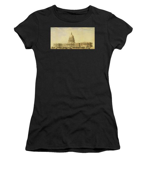 Perspective Rendering Of United States Capitol Women's T-Shirt