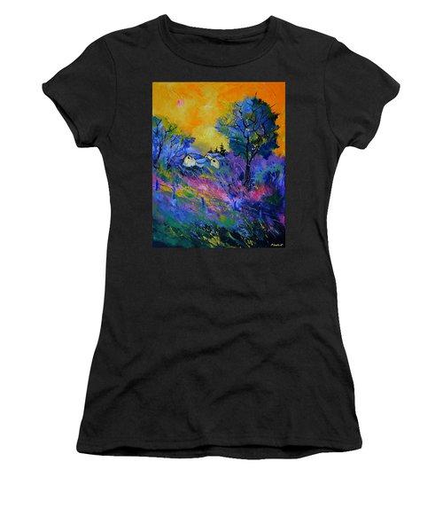 Pink And Blue Landscape Women's T-Shirt