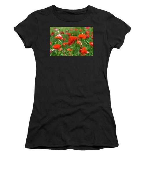Poppies In The Field Women's T-Shirt (Athletic Fit)