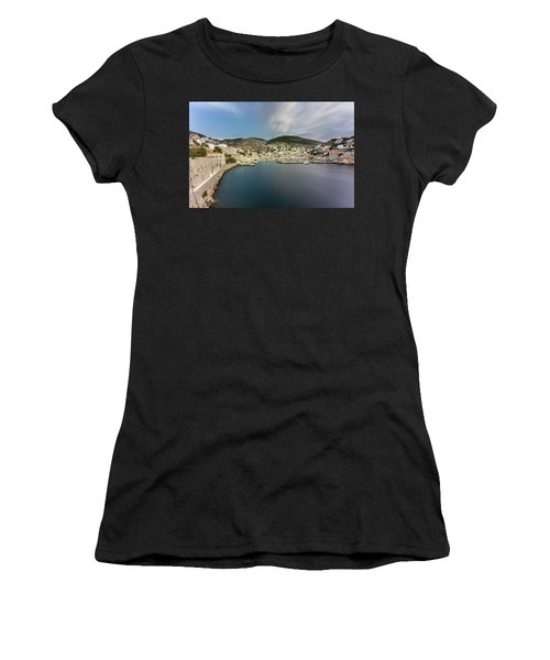 Port At Hydra Island Women's T-Shirt
