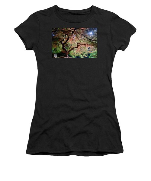 Women's T-Shirt (Athletic Fit) featuring the photograph Portland's Little Giant by Rospotte Photography