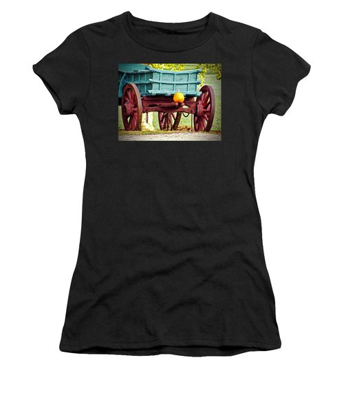 Women's T-Shirt (Athletic Fit) featuring the photograph Pumpkin Trail Mix by Don Moore