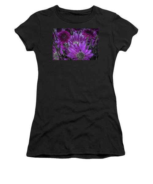 Purple Power Chrysanthem Selective Colorum  Women's T-Shirt