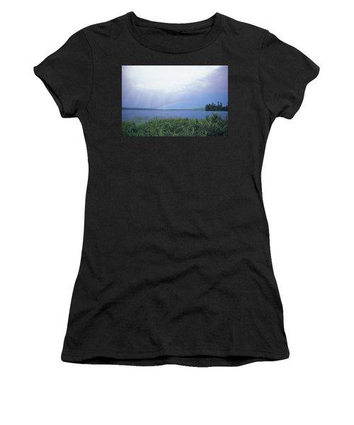 Rainbow Over Raquette Lake Women's T-Shirt