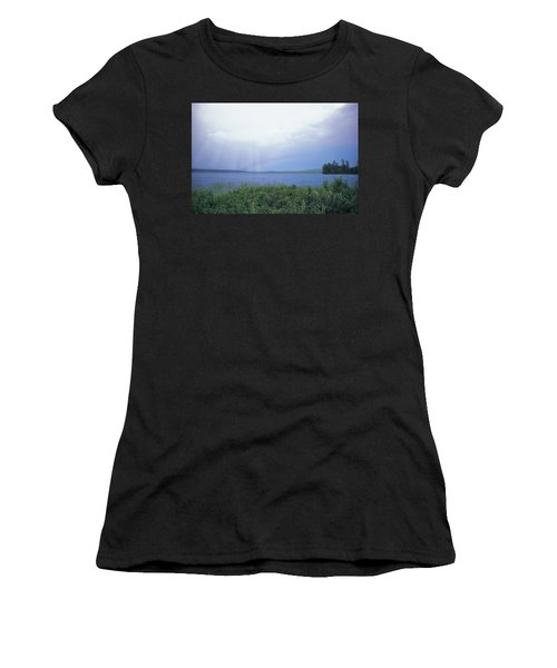 Rainbow Over Raquette Lake Women's T-Shirt