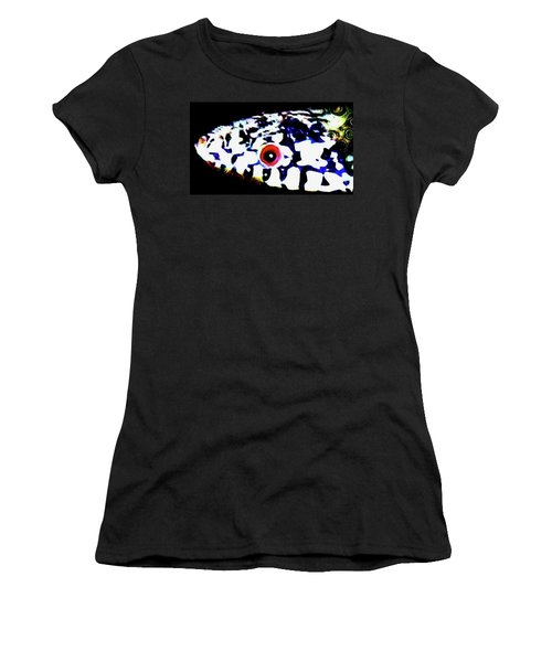 Women's T-Shirt (Athletic Fit) featuring the photograph Red-eyed Snake by Judy Kennedy