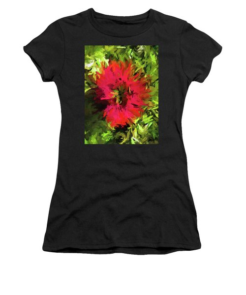 Red Flower Flames Women's T-Shirt (Athletic Fit)