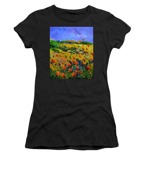 Red Poppies Belgium Women's T-Shirt
