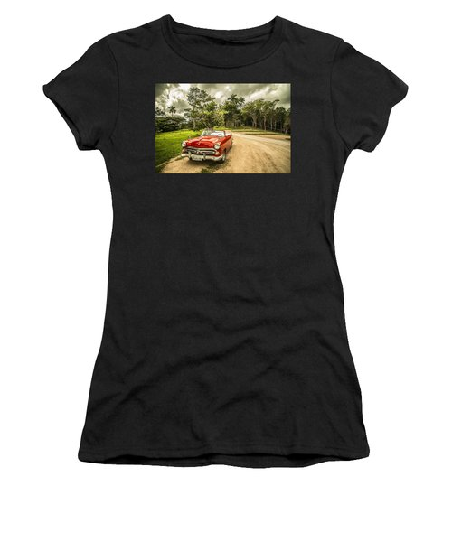 Red Vintage Car Women's T-Shirt