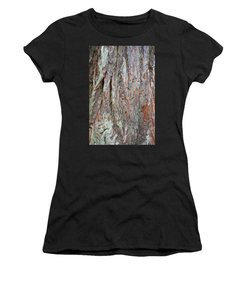 Women's T-Shirt (Athletic Fit) featuring the photograph Redwood Bark by Mark Duehmig