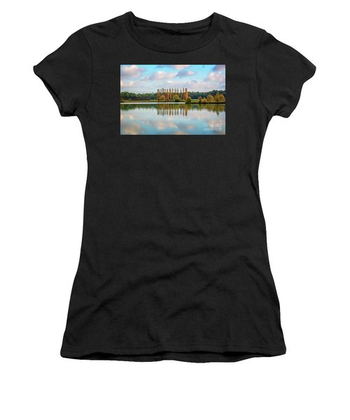 Reflections Of Clouds In A Pond Women's T-Shirt