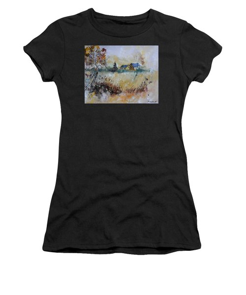 Remote Houses In An Autumnal Scenery Women's T-Shirt