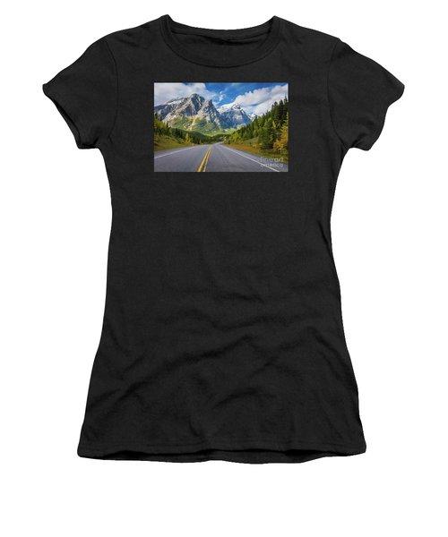 Road To Mount Kidd Women's T-Shirt