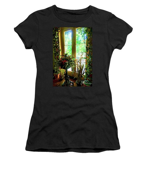 Women's T-Shirt featuring the photograph Room With A View by Joan Reese