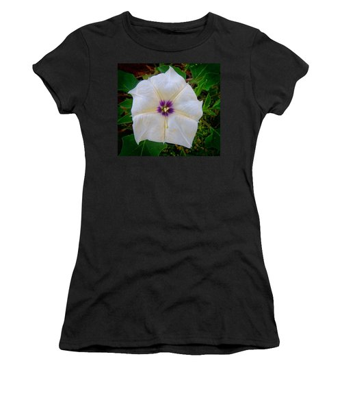 Women's T-Shirt (Athletic Fit) featuring the photograph Sacred Datura - Full Bloom by Judy Kennedy